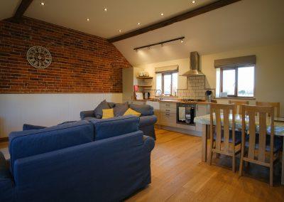 dartmoor cottage living room & ktichen