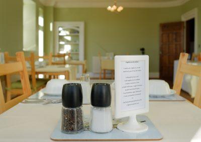 salt & pepper, menu and breakfast room