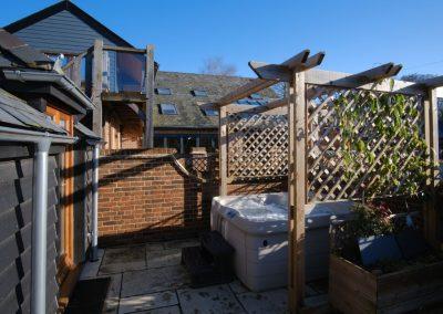 courtyard & hot tub